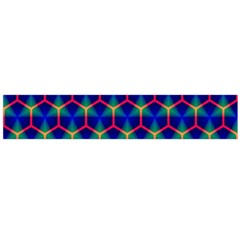 Honeycomb Fractal Art Flano Scarf (Large)