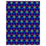 Honeycomb Fractal Art Drawstring Bag (Large) Back