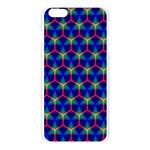 Honeycomb Fractal Art Apple Seamless iPhone 6 Plus/6S Plus Case (Transparent) Front