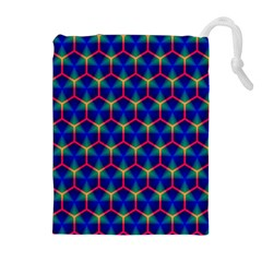 Honeycomb Fractal Art Drawstring Pouches (Extra Large)