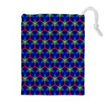 Honeycomb Fractal Art Drawstring Pouches (Extra Large) Front