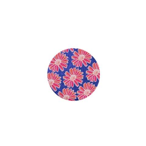 Pink Daisy Pattern 1  Mini Magnets