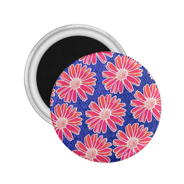 Pink Daisy Pattern 2.25  Magnets