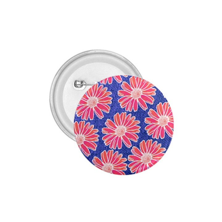 Pink Daisy Pattern 1.75  Buttons