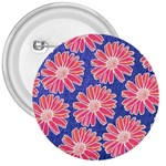 Pink Daisy Pattern 3  Buttons Front