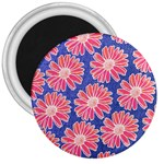 Pink Daisy Pattern 3  Magnets Front