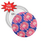 Pink Daisy Pattern 2.25  Buttons (100 pack)  Front