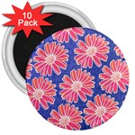 Pink Daisy Pattern 3  Magnets (10 pack)  Front