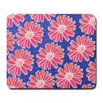 Pink Daisy Pattern Large Mousepads Front