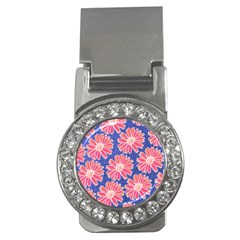 Pink Daisy Pattern Money Clips (CZ)