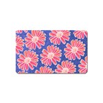Pink Daisy Pattern Magnet (Name Card) Front