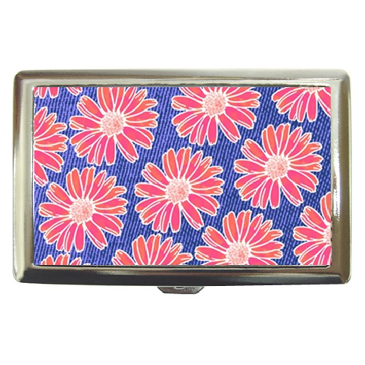 Pink Daisy Pattern Cigarette Money Cases