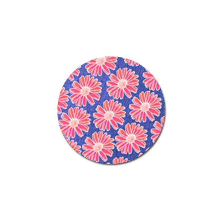 Pink Daisy Pattern Golf Ball Marker