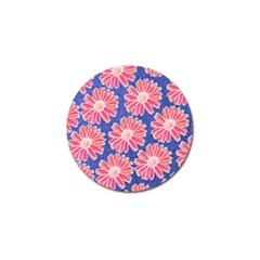 Pink Daisy Pattern Golf Ball Marker (4 pack)