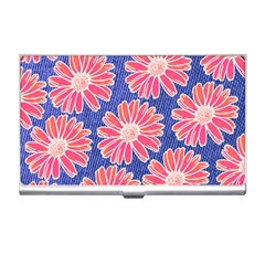Pink Daisy Pattern Business Card Holders