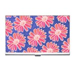 Pink Daisy Pattern Business Card Holders Front