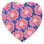 Pink Daisy Pattern Jigsaw Puzzle (Heart) Front
