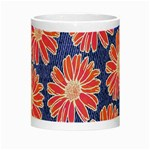 Pink Daisy Pattern Night Luminous Mugs Center