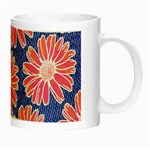 Pink Daisy Pattern Night Luminous Mugs Right