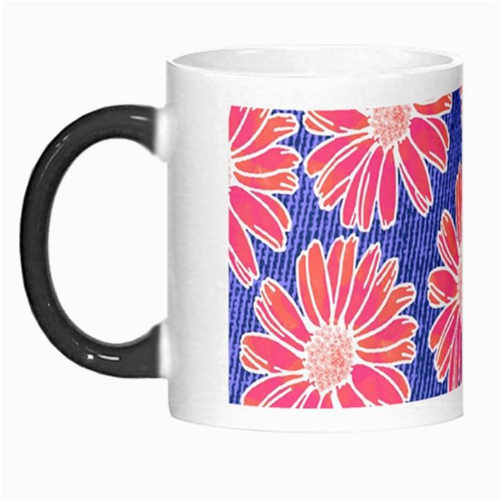 Pink Daisy Pattern Morph Mugs
