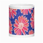 Pink Daisy Pattern Morph Mugs Center