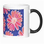 Pink Daisy Pattern Morph Mugs Right