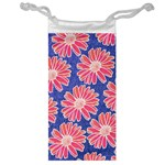 Pink Daisy Pattern Jewelry Bags Front