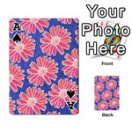 Pink Daisy Pattern Playing Cards 54 Designs  Front - SpadeA