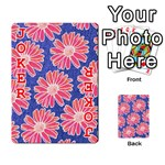 Pink Daisy Pattern Playing Cards 54 Designs  Front - Joker2