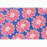Pink Daisy Pattern Collage Prints 18 x12 Print - 1