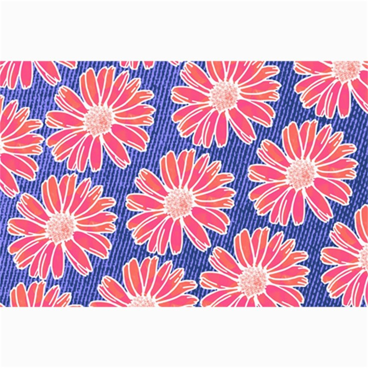 Pink Daisy Pattern Collage Prints