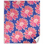 Pink Daisy Pattern Canvas 8  x 10  10.02 x8 Canvas - 1
