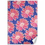 Pink Daisy Pattern Canvas 12  x 18   18 x12 Canvas - 1