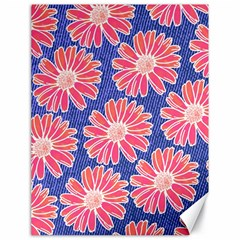 Pink Daisy Pattern Canvas 18  X 24