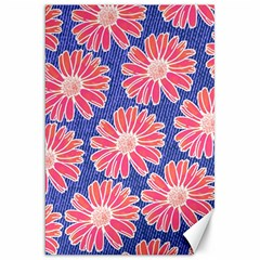 Pink Daisy Pattern Canvas 20  x 30