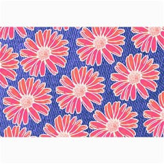 Pink Daisy Pattern Canvas 24  X 36