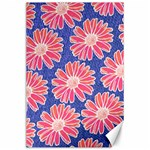 Pink Daisy Pattern Canvas 24  x 36  36 x24 Canvas - 1