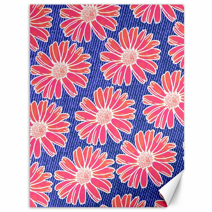 Pink Daisy Pattern Canvas 36  x 48