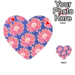 Pink Daisy Pattern Playing Cards 54 (Heart)  Front - Heart8