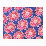 Pink Daisy Pattern Small Glasses Cloth (2-Side) Front