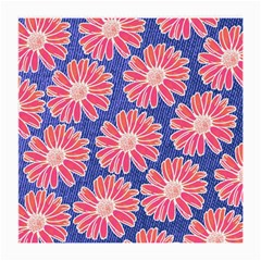 Pink Daisy Pattern Medium Glasses Cloth (2 Side)