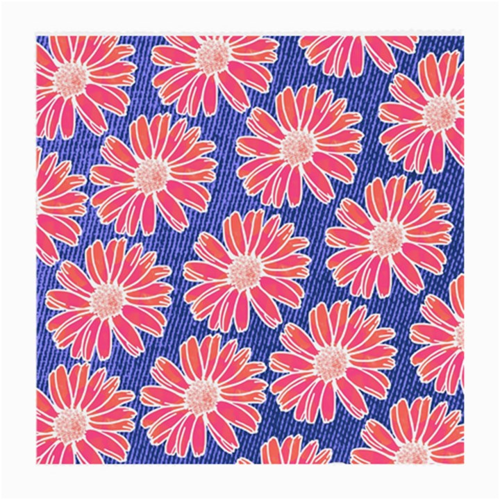Pink Daisy Pattern Medium Glasses Cloth (2-Side)