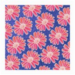 Pink Daisy Pattern Medium Glasses Cloth (2-Side) Back