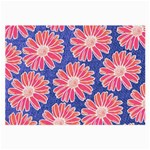 Pink Daisy Pattern Large Glasses Cloth (2-Side) Front