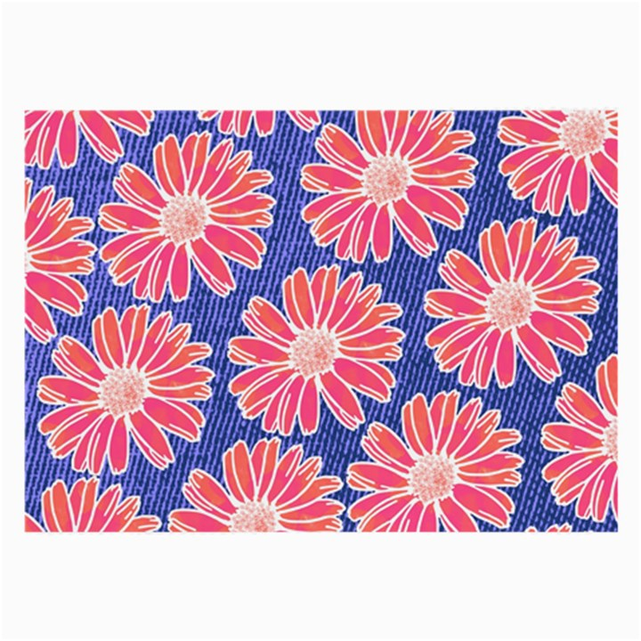 Pink Daisy Pattern Large Glasses Cloth (2-Side)