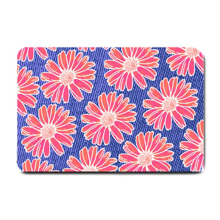 Pink Daisy Pattern Small Doormat