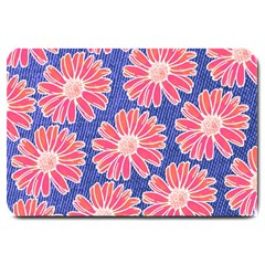 Pink Daisy Pattern Large Doormat