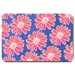 Pink Daisy Pattern Large Doormat  30 x20 Door Mat - 1