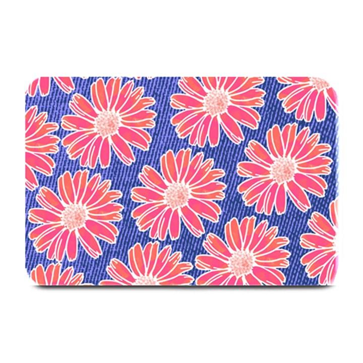 Pink Daisy Pattern Plate Mats