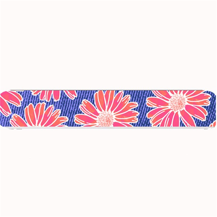 Pink Daisy Pattern Small Bar Mats